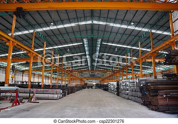 entrepôt, acier, stockage - csp22301276