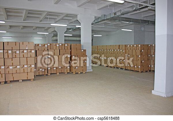 entrepôt, boîtes, carton - csp5618488