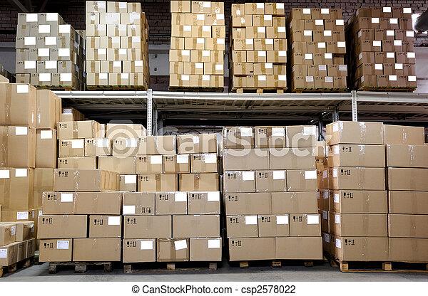 entrepôt, boîtes, catron - csp2578022