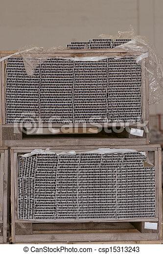 entrepôt, chargé, marchandises - csp15313243