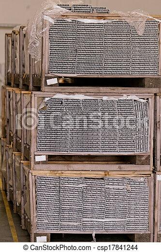 entrepôt, chargé, marchandises - csp17841244