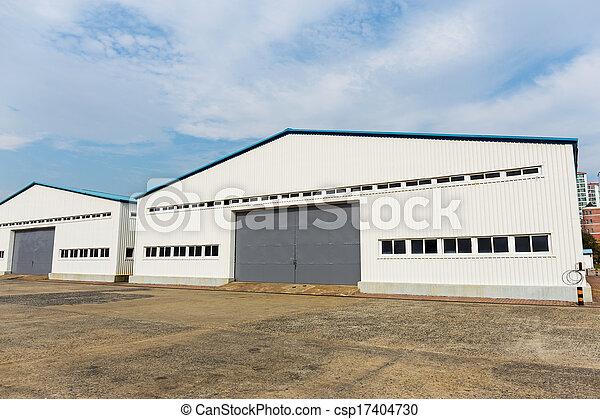 entrepôt, extérieur, stockage - csp17404730
