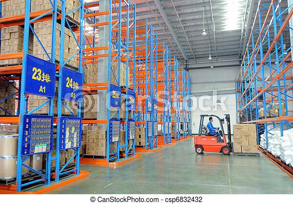 entrepôt, logistique - csp6832432