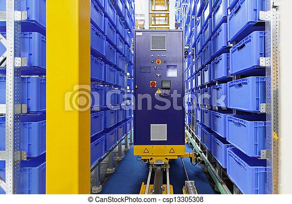 entrepôt, stockage, automatisé - csp13305308