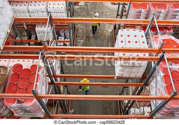 entrepôt, stockage - csp56623428