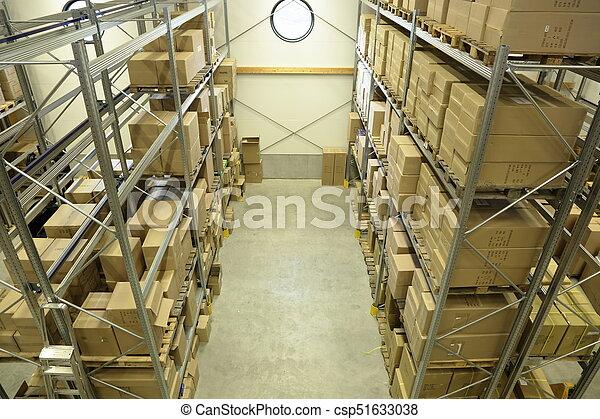 entrepôt, stockage - csp51633038