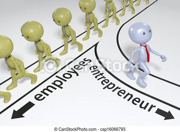 entrepreneur, démarrage, plan, reussite - csp16066793