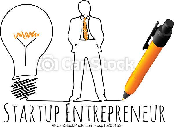 entrepreneur, modèle, démarrage, business - csp15205152