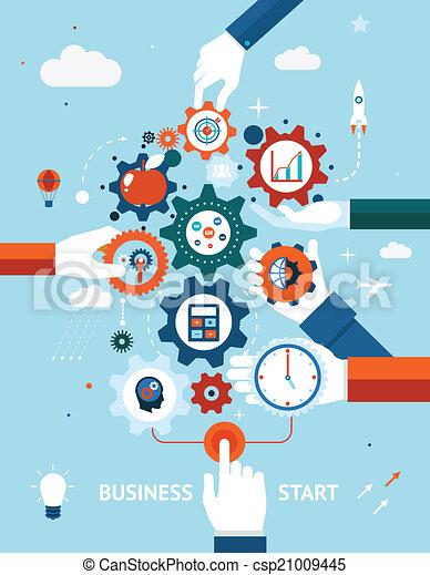 entrepreneurship, business, début - csp21009445