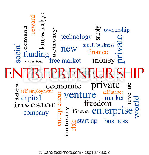 Entrepreneurship Word Cloud Concept - csp18773052