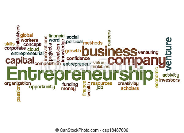 entrepreneurship word cloud concept - csp18487606