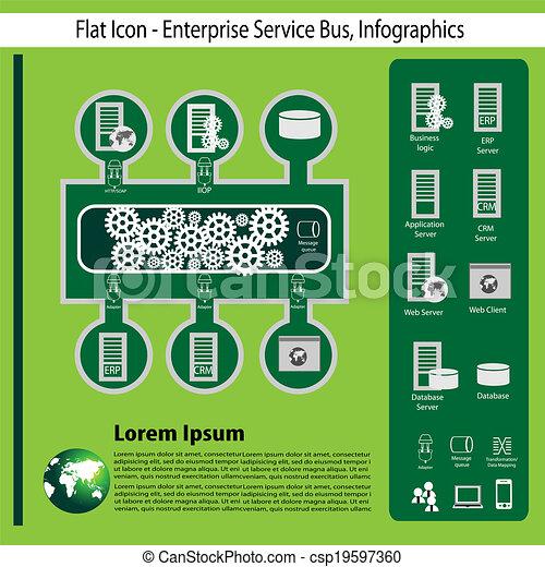 entreprise, technologie, infographics - csp19597360