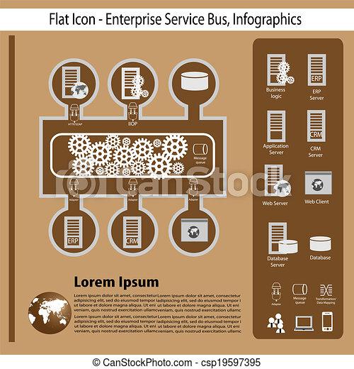 entreprise, technologie, infographics - csp19597395