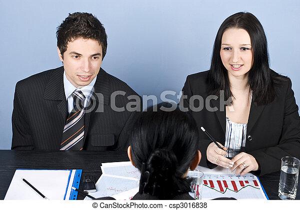 entrevista, negócio - csp3016838