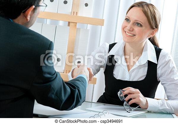 Entrevista de trabajo - csp3494691