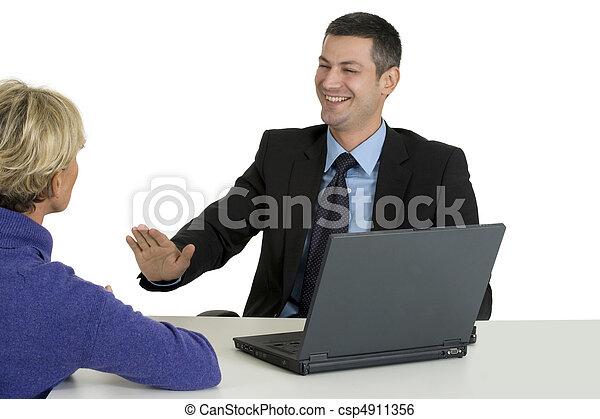 entrevue, métier - csp4911356