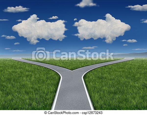 Entscheidung Inspiration - csp12873243