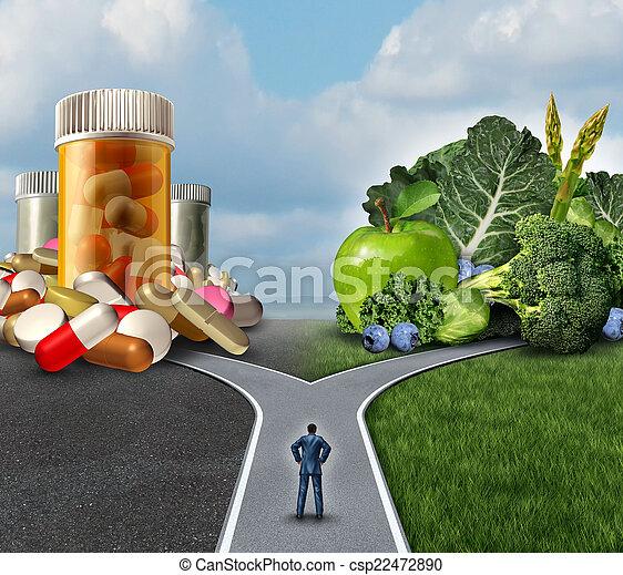entscheidung, medikation - csp22472890