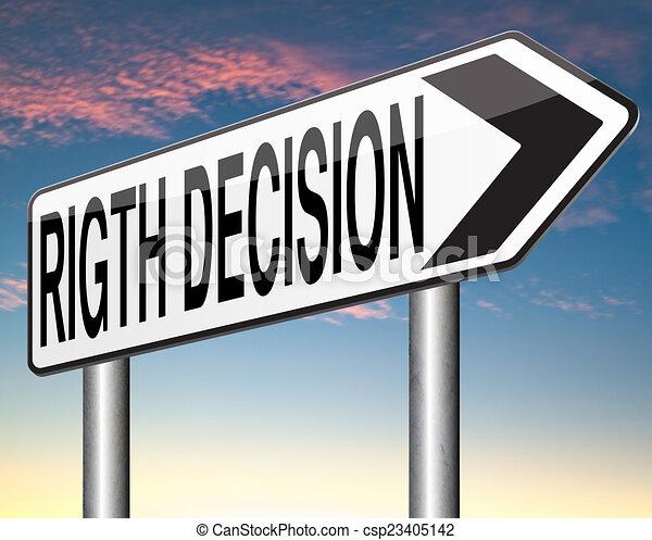 Richtige Entscheidung