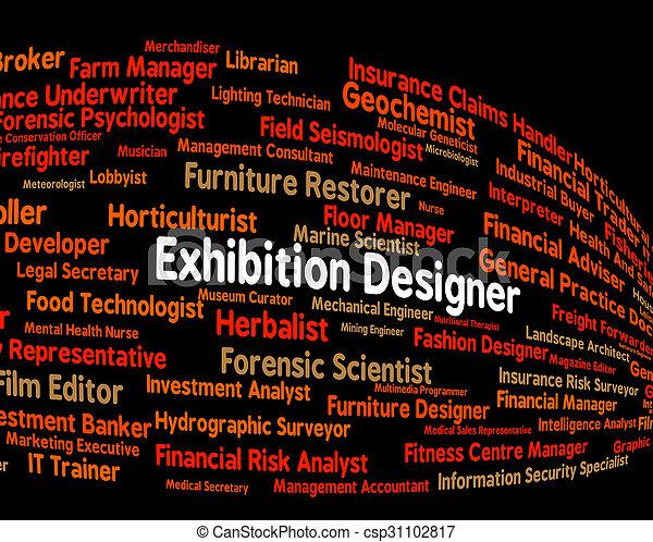 Exhibition Designer zeigt Messe und Demonstration - csp31102817