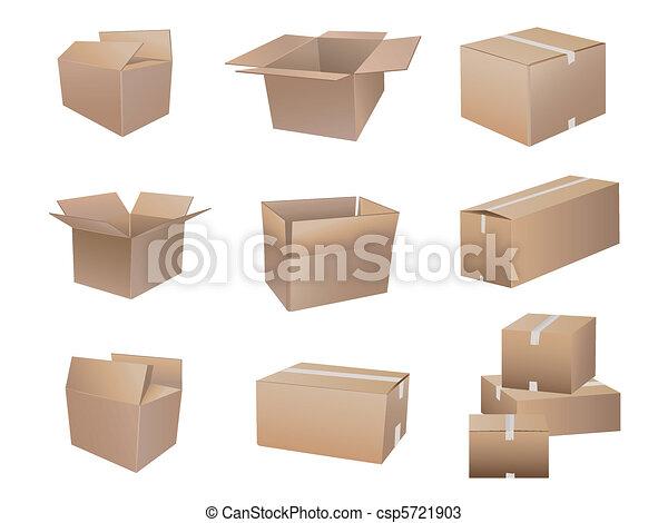 La colección de cajas de camuflaje - csp5721903