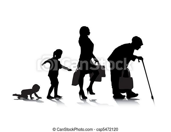 Edad humana 5 - csp5472120