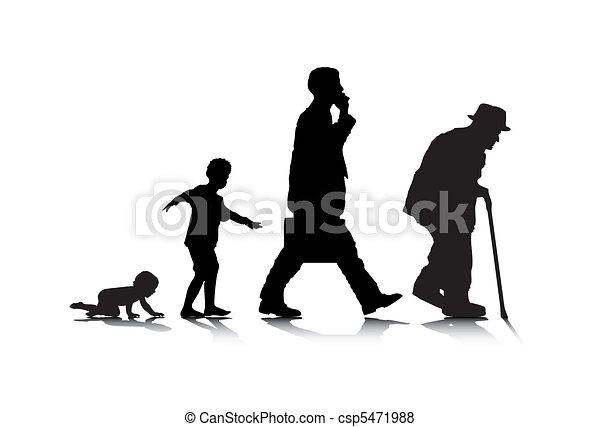Envejecimiento humano - csp5471988