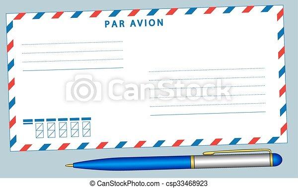 Envelope and pen - csp33468923