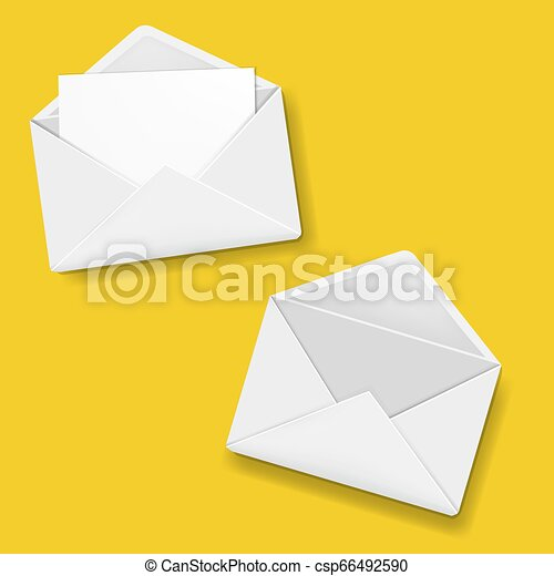 Envelope Collection Yellow Background - csp66492590