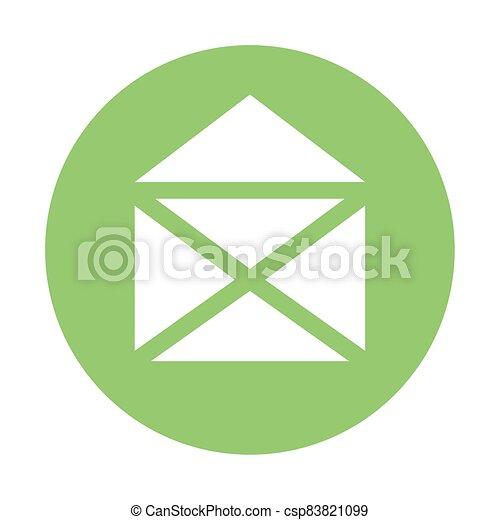 envelope email icon on white background - csp83821099