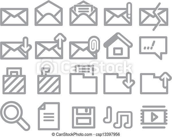 envelope, folder, web vector icons - csp13397956