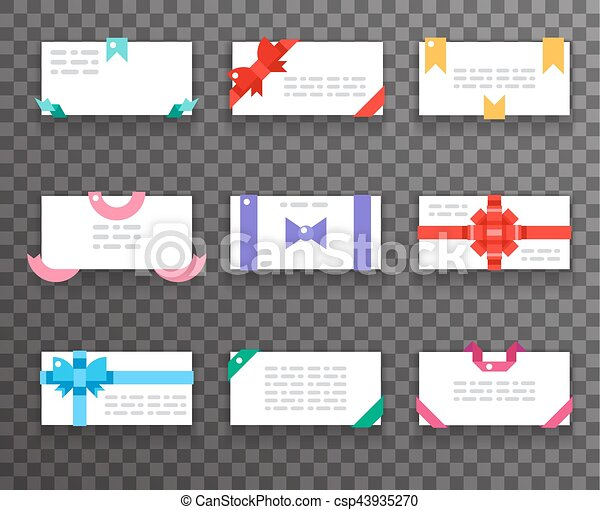 Envelope greeting cards with bows for mobile web apps red gift envelope greeting cards with bows for mobile web apps red gift ribbons icons set flat design vector m4hsunfo