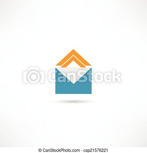 envelope icon - csp21576221