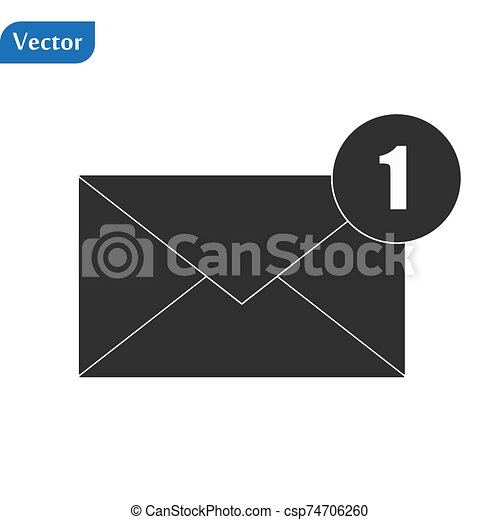 Envelope Icon in trendy flat style isolated on grey background. Mail symbol for your web site design, logo, app, UI. Vector illustration, EPS10. - csp74706260