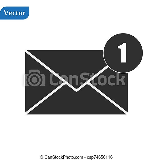 Envelope Icon in trendy flat style isolated on grey background. Mail symbol for your web site design, logo, app, UI. Vector illustration, EPS10. - csp74656116