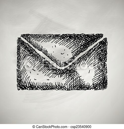 envelope icon - csp23540900