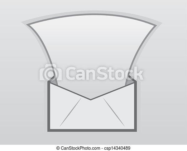 Envelope Letter Floating Open Envelope Releasing Letter