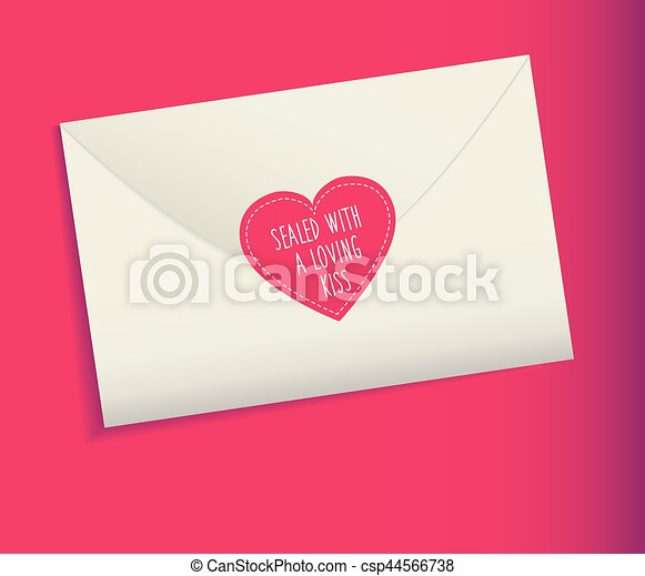 envelope love letter sealed with a loving kiss