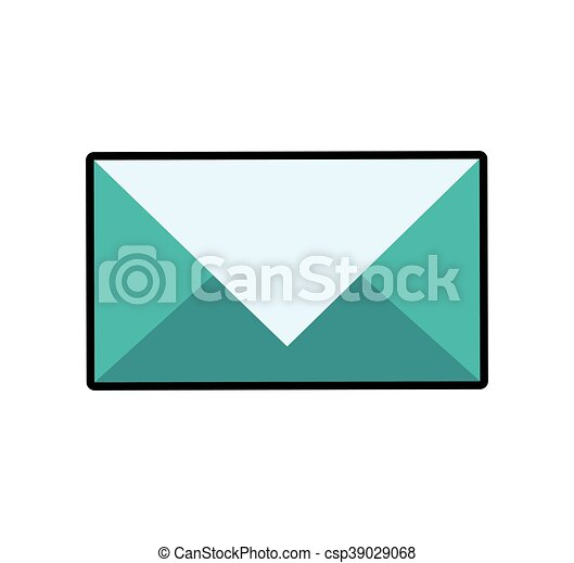 Envelope mail email message icon. Vector graphic - csp39029068