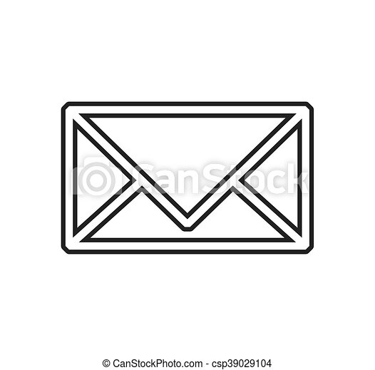 Envelope mail email message icon. Vector graphic - csp39029104