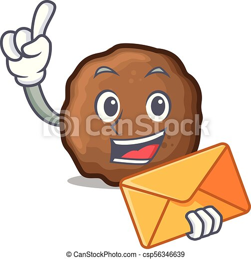 envelope meatball character cartoon style vector vectors search rh canstockphoto com meatball clipart free clipart meatball sub