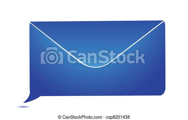 envelope message bubble - csp8201438