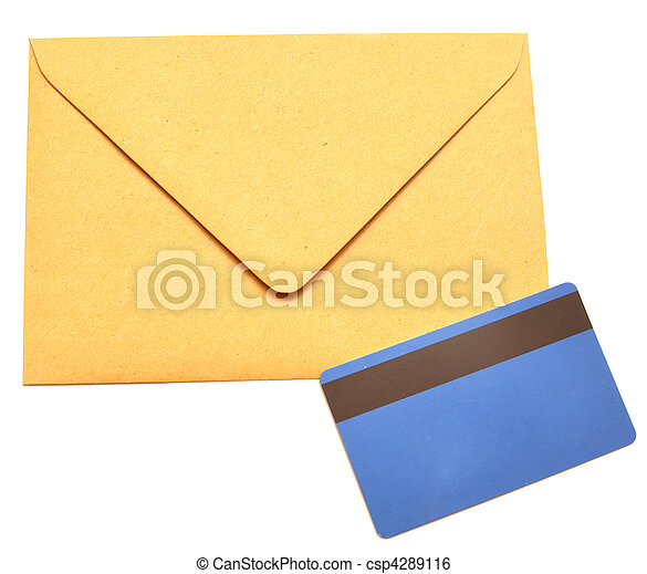 envelope with a plastic card - csp4289116