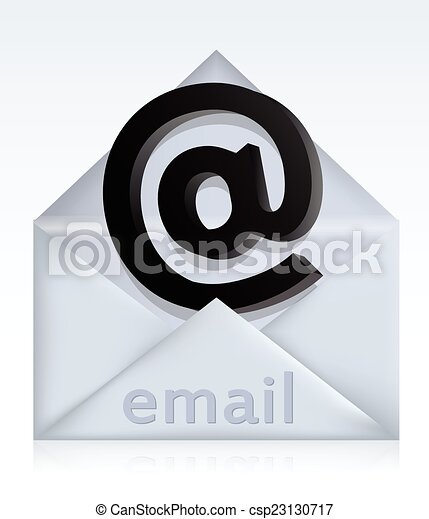 Envelope with e-mail sign - csp23130717