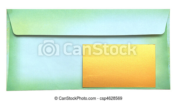 envelope with empty card - csp4628569