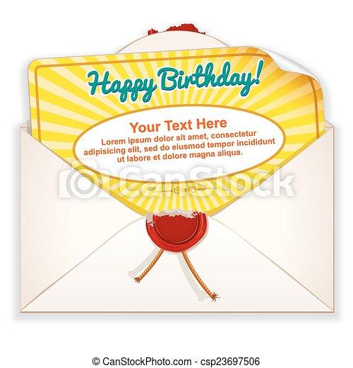 Envelope with Greeting Card - csp23697506