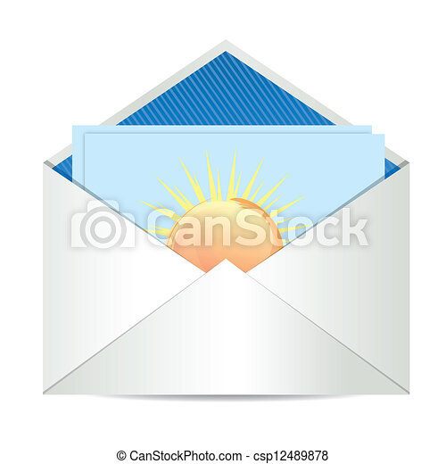 Envelope with paper card - csp12489878