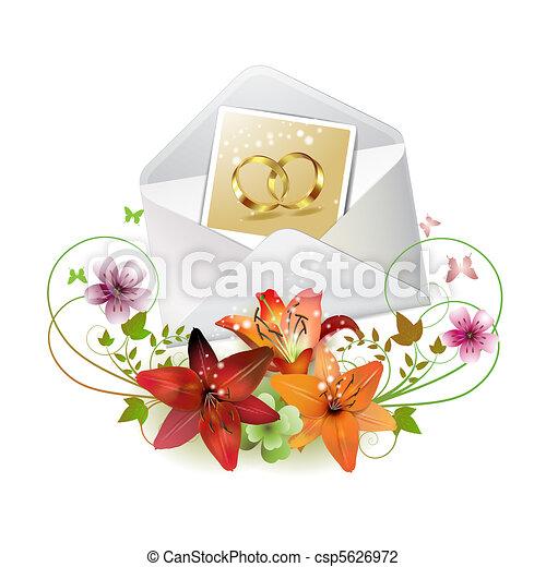 Envelope with photo - csp5626972