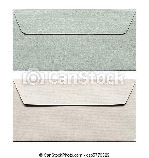 envelopes isolated on white - csp5770523