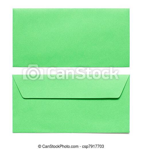 envelopes isolated on white - csp7917703